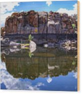 Granite Dells Reflection Wood Print
