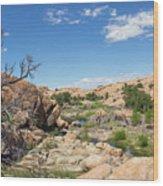 Granite Dells Rocky Terrain  Wood Print