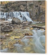 Granite Falls Wood Print
