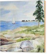 Granite Ledges II Wood Print