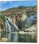 Granite Mountain Waterfall Panorama Wood Print