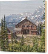 Granite Park Chalet And Heaven's Peak 3 Wood Print