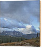 Granite Park Chalet - Glacier National Park Wood Print
