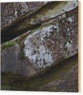 Granite Rock Close Up Wood Print