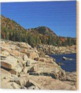 Granite Rocks At The Coast Wood Print
