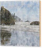 Granite Stacks Olympic Park Wood Print