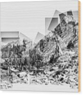 Granite Steps Eagle Lake Sequoia National Park California 2012 Wood Print