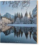 Granite Sunrise Wood Print
