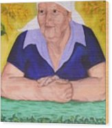 Granny Katiya Wood Print