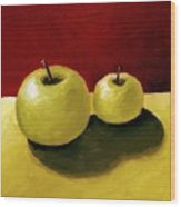 Granny Smith Apples Wood Print