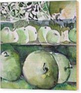 Granny Smith Apples Wood Print