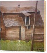 Granny's Barn Wood Print