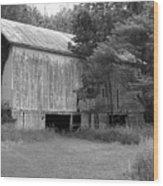 Granville Barn Bw Wood Print