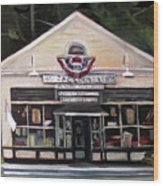 Granville Country Store Front View Wood Print