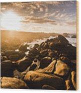 Granville Harbour Tasmania Sunrise Wood Print