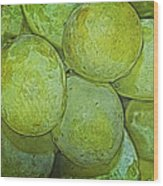 Grape Abstract Wood Print