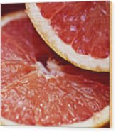 Grapefruit Halves Wood Print