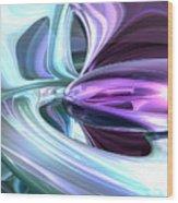 Grapes And Cream Abstract Wood Print