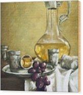 Grapes And Cristals Wood Print