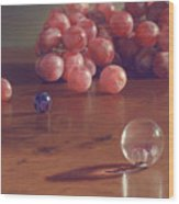 Grapes And Marbles Wood Print by Barbara Groff