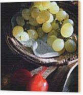 Grapes And Tomatoes Wood Print