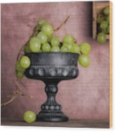 Grapes Centerpiece Wood Print