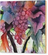 Grapes IIi Wood Print