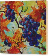 Grapes Mini Wood Print