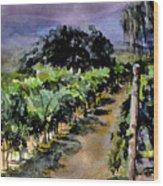 Grapes Of Niagara Wood Print