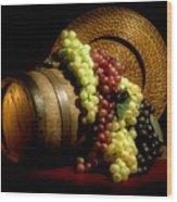 Grapes Of Wine Wood Print