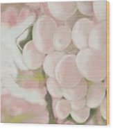 Grapes Powder Pink Wood Print