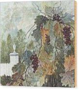 Grapevine Topiary Wood Print