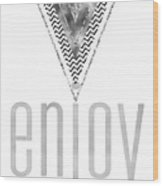 Graphic Art Enjoy The Little Things - Silver Wood Print