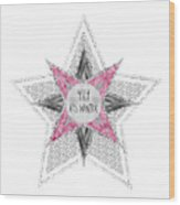 Graphic Art Silver - Yay It's Winter - Pink Wood Print