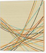 Graphic Line Pattern Wood Print