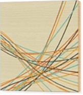 Graphic Line Pattern Wood Print by Setsiri Silapasuwanchai