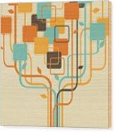 Graphic Tree Wood Print by Setsiri Silapasuwanchai