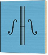 Graphic Violin Wood Print