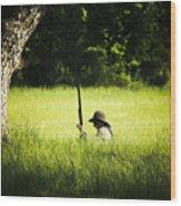 Grass Coverage Wood Print