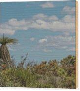 Grass Tree Landscape Wood Print