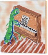Grasshoppers Don't Play Piano Wood Print