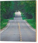 Grassy Lake Road Wood Print