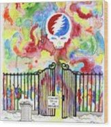 Grateful Dead Concert In Heaven Wood Print