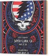 Grateful Dead Santa Clara Ca Wood Print