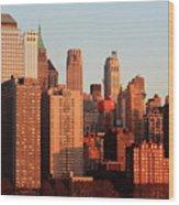Gratte Ciel Manhattan Usa Wood Print