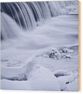 Graue Mills Falls Wood Print
