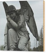 Grave Angel Wood Print
