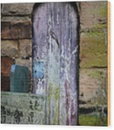 Grave Door Appleby Magna Wood Print
