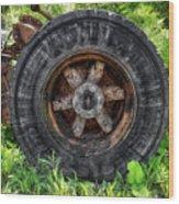 Gravel Pit Goodyear Truck Tire Wood Print