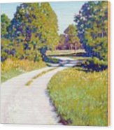 Gravel Road Wood Print